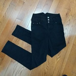 True High waisted black skinny jeans size 4